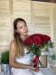Розы 15  шт. бордо из Эквадора - 1